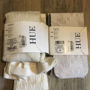 HUE Accessories - NEW HUE off white and gray tights